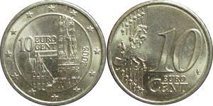 10 Eurocent Republic of Austria (1955 - ) Copper