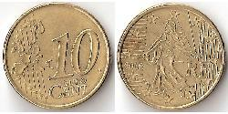 10 Eurocent French Fifth Republic (1958 - ) Tin/Aluminium/Copper/Zinc