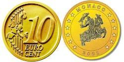 10 Eurocent Monaco Tin/Aluminium/Copper/Zinc