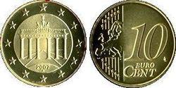 10 Eurocent Bundesrepublik Deutschland  (1990 - ) Tin/Aluminium/Kupfer/Zink