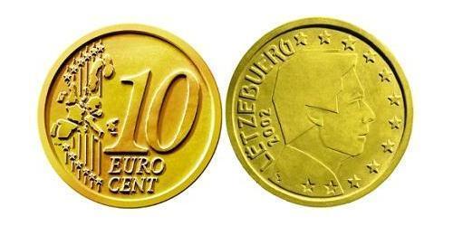 10 Eurocent Luxemburg Tin/Aluminium/Kupfer/Zink