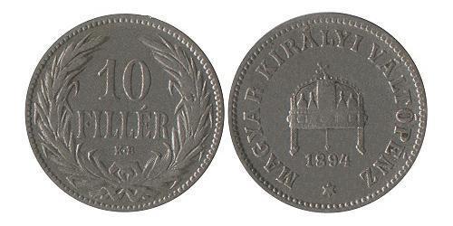 10 Filler Hungary (1989 - ) Nickel