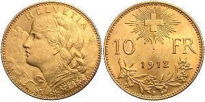 10 Franc 瑞士 金