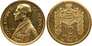 10 Franc Monaco 金 路易二世 (摩纳哥) (1870 - 1949)