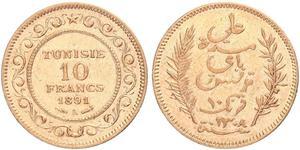 10 Franc Tunisia 金