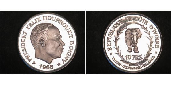 10 Franc Cote dIvoire 銀