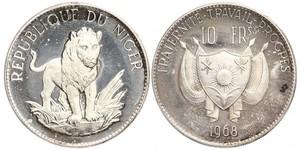 10 Franc Niger 銀