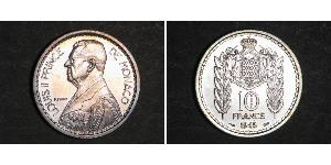 10 Franc Monaco 銅/镍 路易二世 (摩纳哥) (1870 - 1949)