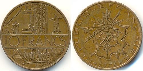 10 Franc 法国 黃銅