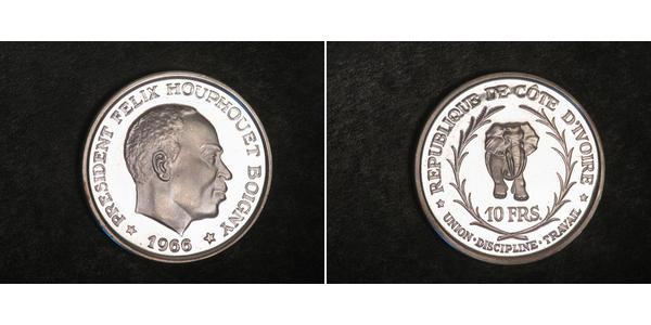 10 Franc Cote dIvoire Argent