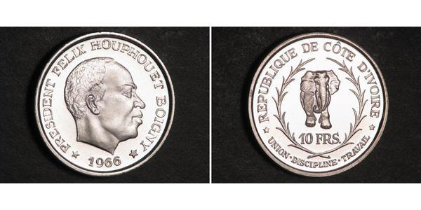10 Franc Cote dIvoire Argento