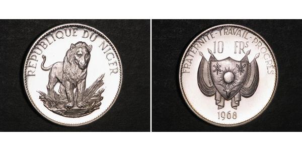 10 Franc Niger Argento