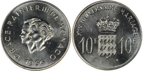 10 Franc Principato di Monaco Argento