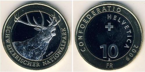 10 Franc Switzerland Bimetal