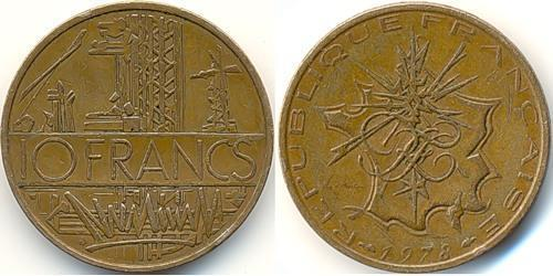 10 Franc France Brass