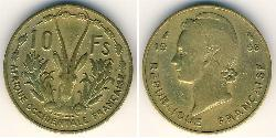10 Franc French West Africa (1895-1958) Brass