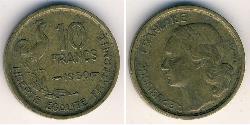 10 Franc French Fourth Republic (1946-1958) Bronze