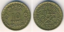 10 Franc Morocco Bronze