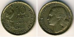 10 Franc French Fourth Republic (1946-1958) Bronze/Aluminium