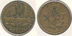 10 Franc Francia Bronzo