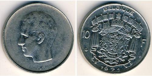 10 Franc Belgium Copper/Nickel