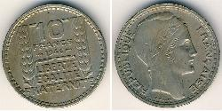 10 Franc French Fourth Republic (1946-1958) Copper/Nickel