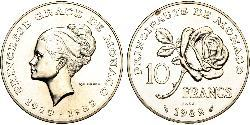 10 Franc Monaco Copper/Nickel