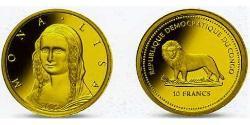 10 Franc Democratic Republic of the Congo Gold