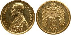 10 Franc Monaco Gold Louis II Prince of Monaco (1870-1949)