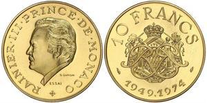 10 Franc Monaco Gold Rainier III. (Monaco)