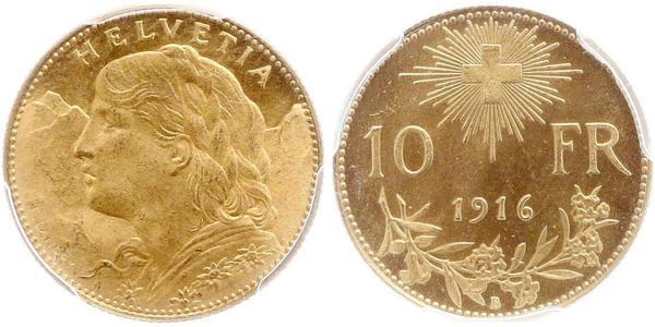 10 Franc Schweiz Gold