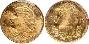 10 Franc Switzerland Gold