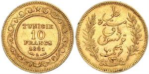 10 Franc Tunesien Gold