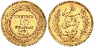 10 Franc Tunisia Gold