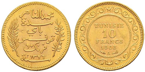 10 Franc Tunisia Gold