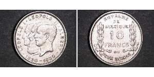 10 Franc Belgio Nichel Alberto I del Belgio / Leopoldo I del Belgio (1790-1865) / Leopold II (1835 - 1909)