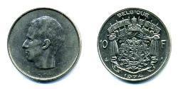 10 Franc Belgium Nickel