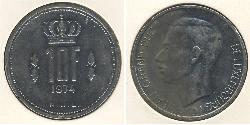 10 Franc Luxembourg Nickel