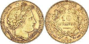 10 Franc Deuxième République (France) (1848-1852) Or