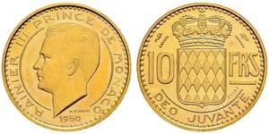 10 Franc Monaco Or Rainier III