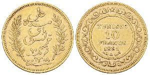 10 Franc Tunisie Or