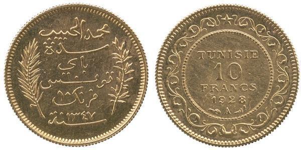 10 Franc Tunisie Or