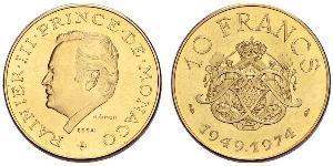 10 Franc Principato di Monaco Oro Ranieri III di Monaco
