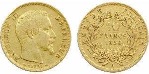 Moneta 10 Franc Secondo Impero Francese 1852 1870 Oro 1859