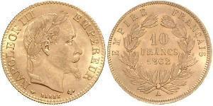 10 Franc Segundo Imperio francés (1852-1870) Oro Napoleon III (1808-1873)