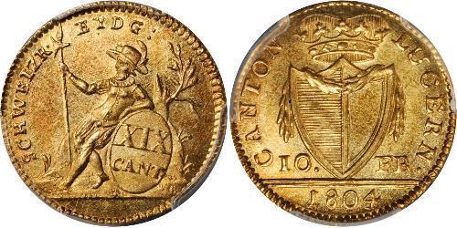 10 Franc Suiza Oro