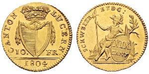 10 Franc Svizzera Oro