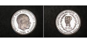 10 Franc Cote dIvoire Plata
