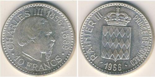 10 Franc Mónaco Plata