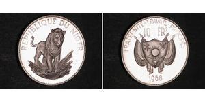 10 Franc Niger Plata